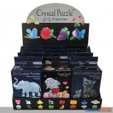 "3D Crystal Puzzle ""12er Display-Sortiment"" sort."