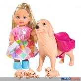 """Evi Love - Puppe m. Hundefamilie """"Dog Sitter"""""""