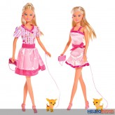 "Steffi Love - Modepuppe ""Pink & Blond"" - 2-sort."