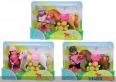 "Evi Love - Puppen-Set ""Evi's Pony"" - 3-sort."