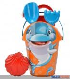 "Sand-Eimergarnitur 6-tlg. ""Delfin & Oktopus"" - 2-sort."