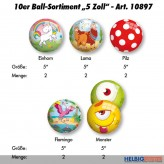 "10er Ball-Sortiment ""5 Zoll"" 2020 - 5-sort."