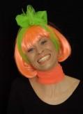 Perücke Foxy - Pagenschnitt - orange (neon)
