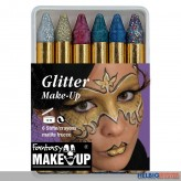 "Theater Make-up/Schminke ""Glitter"" - 6er Schminkstifte"