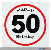 "Papier-Servietten ""Happy Birthday - 50"" 3-lagig"