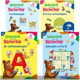 """Lern-Sticker-Hefte """"Stickerspaß mit dem Bücherbär"""" - 4-sort."""