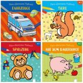 """Mein allererstes Malbuch """"Spielzeug/Tiere/Farm/Autos"""" 4-sort"""