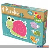 "Formen-Puzzle ""4 in 1: Happy Animals / Lustige Tiere"""