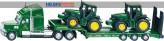Siku 1837 - Tieflader m. John Deere Traktoren