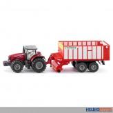 Siku 1987 - Massey Ferguson Traktor mit Pöttinger Jumbo
