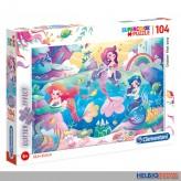 """Glitter-Puzzle """"Meerjungfrau / Under the sea"""" 104 Teile"""
