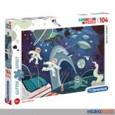 """Glitter Puzzle """"Weltraum-Abenteuer/Space Oddity"""" 104 Teile"""