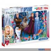 """3D Vision Puzzle """"Disney Frozen 2 - Charaktere"""" 104 Teile"""