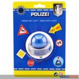 """Fahrrad-Sirene """"Polizei"""" mit Licht- & Soundfunktion"""