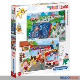 "Kinder Puzzle ""Rescue Heroes/Rettungs-Helden"" 2 x 60 Teile"