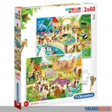 "Kinder Supercolor-Puzzle ""Zoo"" 2 x 60 Teile"