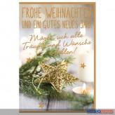"""Glückwünschkarte Weihnachten """"Frohe Weihnachten...- Engel"""""""