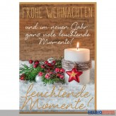 """Glückwünschkarte Weihnachten """"...viele leuchtende Momente"""