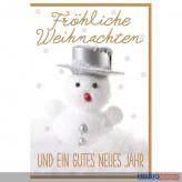 """Glückwünschkarte Weihnachten """"Schneemann"""""""