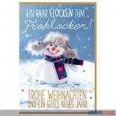 """Glückwünschkarte Weihnachten """"...Flocken zum Frohlocken"""""""