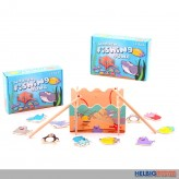 "Holz-Angelspiel ""Fishing Game"" - 16-tlg."