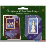 """Geschenkanhänger """"Weihnachten"""" 4er Set - sort."""