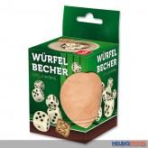Würfelbecher aus Leder - inkl. 6 Würfel