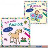 """Malbuch """"Mein erster Malblock: Tiere"""" sort."""