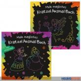 """Kreativ-Bastelbuch """"Mein magisches Kratzel Ausmal Buch""""sort."""