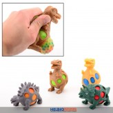"Quetsch-Dinosaurier mit Bubble-Ball ""Squish Dinosaur"" sort."