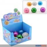 """Glitter-Quetsch-Ball """"Squeezy Glitter Ball"""" 6-sort."""