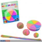 """Bouncing Putty/Springknete """"6 Neon-Farben"""" auf Blisterkarte"""