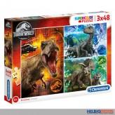 "Kinder-Puzzle ""Jurassic World - Dinosaurier"" 3 x 48 Teile"