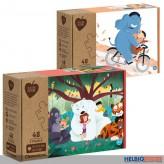 "Eco-Kinder-Puzzle Set ""Tierische Freunde"" 3x48 Teile - sort."