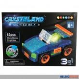 """Bausteine-Set """"Crystaland 3in1"""" mit Lichtfunktion - 6-sort."""
