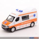 """Metall-Auto """"Rettungsdienst-Transporter"""" 1:32 - mit L&S"""