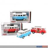 """Metall-Auto Bus """"Volkswagen T1"""" 1:38 - mit Rückzug"""