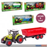 "Farm-Traktor m. Anhänger ""Farm Truck"" Spielset m. L&S sort."