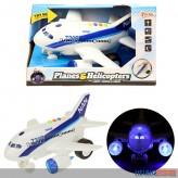 Flugzeug mit Licht-, Sound & Sprachfunktion - mit Friktion