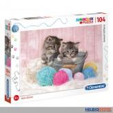 "Supercolor Puzzle ""Katzenbabys / Sweet Kittens"" - 104 Teile"