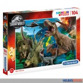 """Supercolor Puzzle """"Jurassic World - Dinosaurier"""" 104 Teile"""