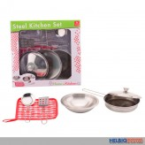 """Küchen-Topf-Set """"Home & Kitchen"""" aus Stahl - 6-tlg."""