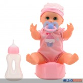 "Trink- & Näss-Puppe ""Baby Rose"" 25 cm - 2-sort."
