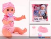 "Trink- & Näss-Puppe ""Baby Rose"" 35 cm - 2-sort."