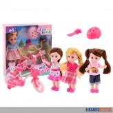 "Puppen-Spielset ""Lily Dolls - Mein erstes Fahrrad"" 4-sort."