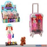 "Puppen-Spielset ""Reisekoffer / Suitcase"" sort."