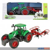 """Traktor mit Heuwender """"Tractor"""" m. Friktionsantrieb"""