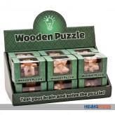 """Holz-Geschicklichkeits-Spiele """"Wooden-Puzzle"""" sort."""