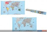 Weltkarte zum Freirubbeln - 88 x 52 cm
