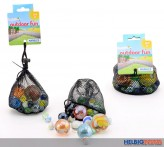 "Glasmurmel-Set ""Marbles Outdoor Fun"" - 500 gr. Beutel"